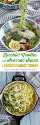 zucchini noodles with avocado sauce u0026 tilapia bbsuperfresh