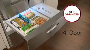 lg bottom freezer french door refrigerator lg 4 door refrigerator with double freezer drawers youtube