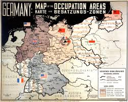 Map Of Belgium And Germany Germany Map Of The Occupation Areas Created 1946 By Johannes
