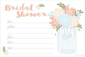 wedding shower invitations jar bridal shower invitations fill in style