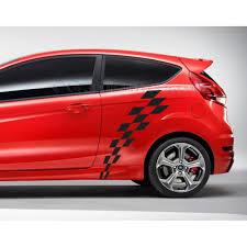 Flag Car Decals Mk7 Ford Fiesta Check Checker Flag Custom Side Graphic Decal