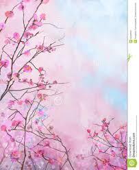 Peinture Cerisier Japonais by Fond Floral De Peinture De Fleur De Ressort De Sakura De Cerise