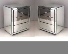 mirrored side table end cube venetian bedside cabinet next bedroom