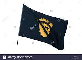 Cavalry Flag Us Army 1st Cavalry Division Flag Stock Photo Royalty Free Image