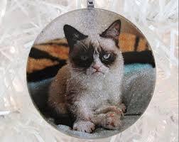 grumpy cat ornament etsy