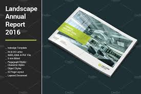 ind annual report template landscape annual report 2016 brochure templates creative market