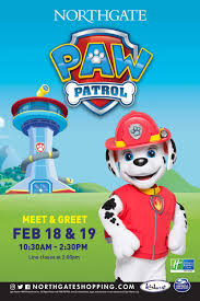upcoming paw patrol northgate shopping centre