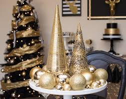 black and gold centerpieces black gold christmas party lillian designs