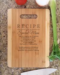 cutting board with recipe engraved mothers gift personalized recipe for a special custom