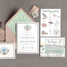 vermont destination wedding invitation brides