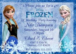 sample frozen birthday party invitation wording 12 in with frozen