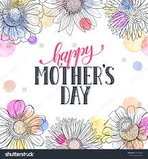 mothers day greeting card template happy stock vector 410730352