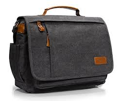 sacoche de bureau estarer sac ordinateur portable 13 3 14 pouces homme toile vintage