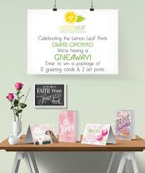 Invitation Card Grand Opening Lemon Leaf Prints Grand Opening Announcement