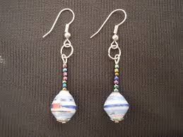earrings paper and paper bead earrings