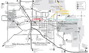 Map Of Chandler Az Seven Falls Mt Lemmon U2022 Hiking U2022 Arizona U2022 Hikearizona Com