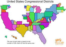 map of us states based on population daily kos elections presents the best map of united states