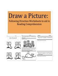 draw a picture following direction worksheets to aid in reading