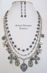 gemstone jewelry necklace images Schaef designs upscale artisan handcrafted pearl gemstone jpg