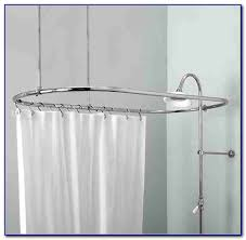 oval shower curtain rod canada curtain home decorating ideas