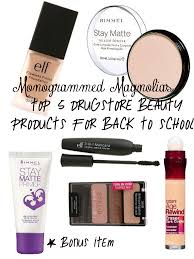 Top Makeup Schools Monogrammed Magnolias Top 5 Drugstore Beauty Products For Back To