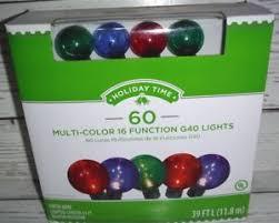 holiday time christmas lights holiday time pet g40 16 function christmas lights multi color 60