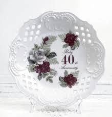 40th anniversary plate 8 cake plate 40th anniversary plate ruby 40th anniversary to