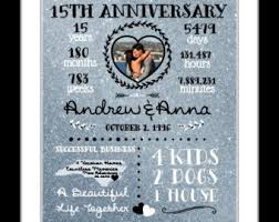 15th anniversary gifts wedding anniversary gifts paper canvas 15 year anniversary