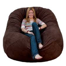 Leather Bean Bag Chairs For Adults Amazon Com Cozy Sack 6 Feet Bean Bag Chair Large Chocolate