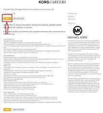 Michael Kors Resume How To Apply For Michael Kors Jobs Online At Michaelkors Com Careers