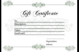 gift voucher samples gift certificate templates free printable gift certificates for