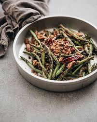 garlic blistered green beans maggie zhu