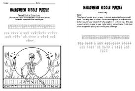halloween bulletin board displays and puzzles
