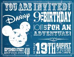 mickey mouse printable birthday invitations mickey mouse disney invitation digital custom printable birthday