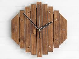 geometric wall clock simple clock wooden wall clock rustic
