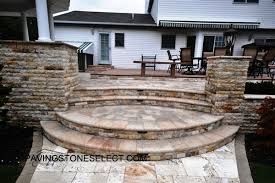 Raised Patio Pavers Walkway Pavers Built With Steps Platforms And Raised Patio Ny New