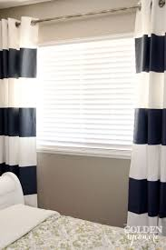 Painting Fabric Curtains Diy Painted Stripe Curtains And Distressed Pipe Curtain Rod The