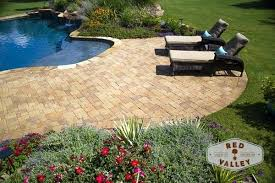 Paver Patios Cost Landscaping Around Paver Patio Lovely Patio With Lush Landscaping