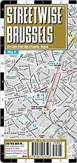 map brussels streetwise brussels map laminated city center map of