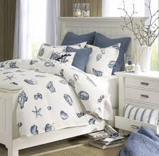 interior casual kid nautical bedroom decoration using blue