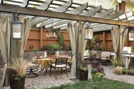 vintage backyard decors featuring pleasing patio with long