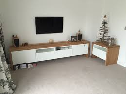 Design For Oak Tv Console Ideas Bestå Tv Unit With Oak Wrap Around Ikea Hackers In Ikea Tv Console