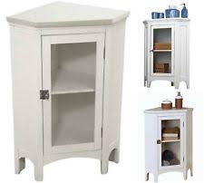 White Corner Storage Cabinet by Corner Cabinets Ebay