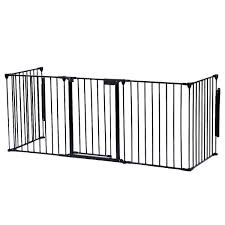baby safety fence hearth gate bbq metal fire gate pet dog cat