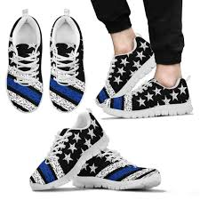 Thin Blue Line Flag Blue Line American Flag Sneakers