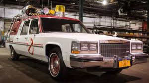 ghostbusters ecto 1 cadillac gets a total redesign for upcoming