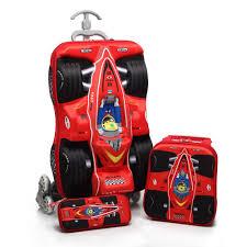 box car for kids 3pcs set kids cars travel luggage 3d stereo pull rod box cartoon