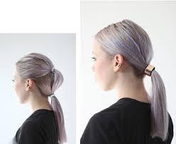 hair cuff silver color fashion metal runway mirrors hair cuff ponytail cone