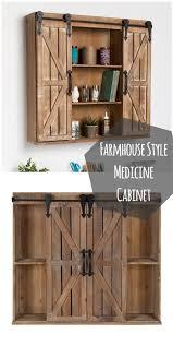 rustic bathroom storage cabinets love this rustic barn door style medicine cabinet homedecor home