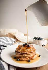 Blueberry Pancake Recipe Whole Wheat Yogurt Pancakes With Blueberries Feasting Not Fasting